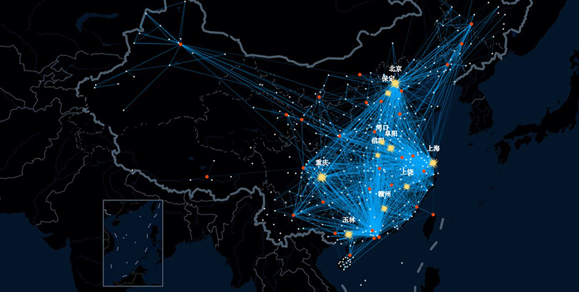 Chinese New Year 2017 migration map