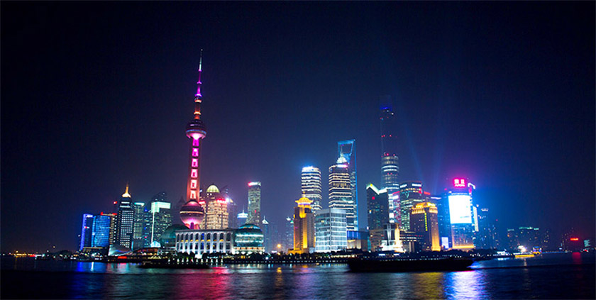 Shanghai town at night